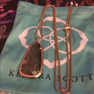Kendra Scott Adjustable Saylor Necklace—Rose Gold
